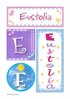 Eustolia, nombre, imagen para imprimir