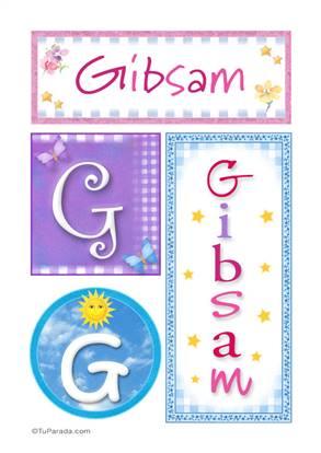 Gibsam, nombre, imagen para imprimir