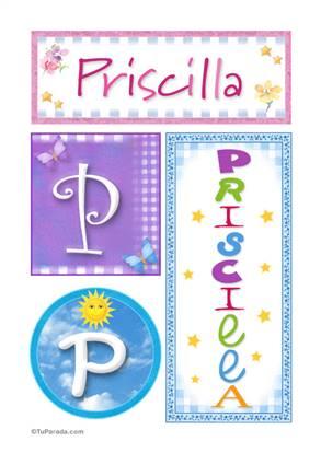 Priscilla, nombre, imagen para imprimir