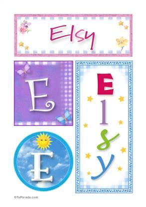 Elsy, nombre, imagen para imprimir