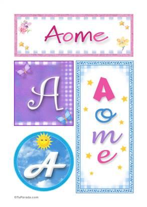 Aome, nombre, imagen para imprimir