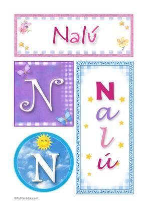 Nalú, nombre, imagen para imprimir