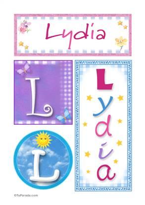Lydia, nombre, imagen para imprimir