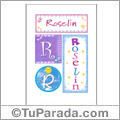 Roselin, nombre, imagen para imprimir
