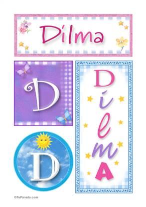 Dilma, nombre, imagen para imprimir