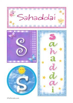 Sahaddai, nombre, imagen para imprimir