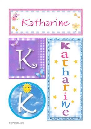 Katharine, nombre, imagen para imprimir