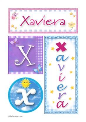 Xaviera, nombre, imagen para imprimir