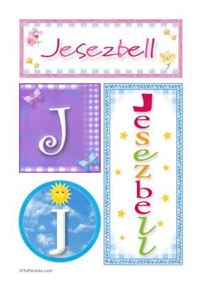 Jesezbell, nombre, imagen para imprimir