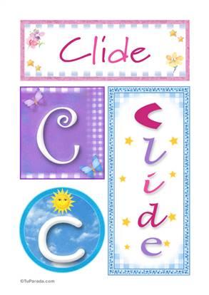 Clide, nombre, imagen para imprimir