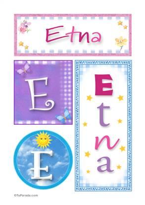 Etna, nombre, imagen para imprimir