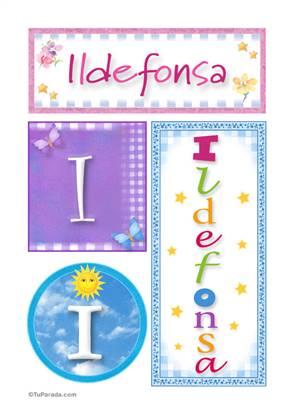 Ildefonsa, nombre, imagen para imprimir