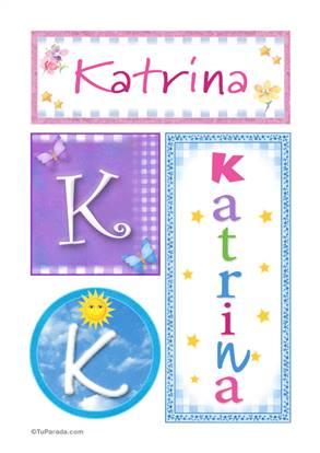 Katrina, nombre, imagen para imprimir
