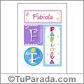 Fabiola, nombre, imagen para imprimir