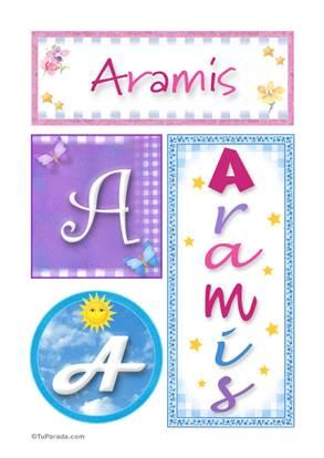 Aramis, nombre, imagen para imprimir