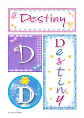 Destiny, nombre, imagen para imprimir