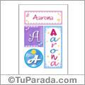 Aarona, nombre, imagen para imprimir