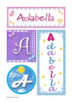 Adabella, nombre, imagen para imprimir