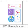 Cori, nombre, imagen para imprimir