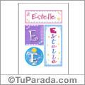 Estelle, nombre, imagen para imprimir