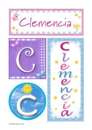 Clemencia, nombre, imagen para imprimir
