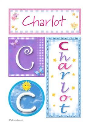 Charlot, nombre en imagen para imprimir