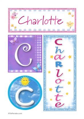 Charlotte, nombre en imagen para imprimir