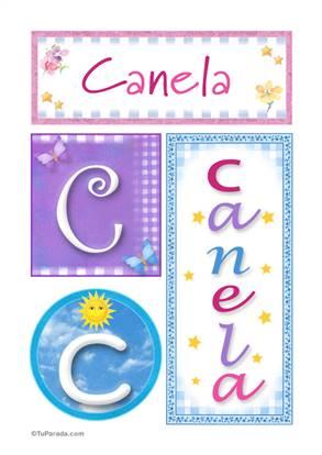 Canela, nombre, imagen para imprimir