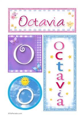 Octavia, nombre, imagen para imprimir