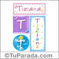 Tiziana, nombre, imagen para imprimir
