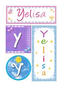 Yelisa, nombre, imagen para imprimir