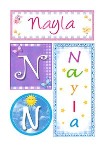 Nayla, nombre, imagen para imprimir
