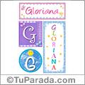 Gloriana, nombre, imagen para imprimir