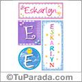 Eskarlyn, nombre, imagen para imprimir