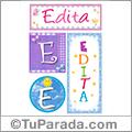 Edita, nombre, imagen para imprimir