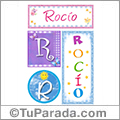 Rocío, nombre, imagen para imprimir