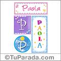 Paola, nombre, imagen para imprimir