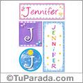 Jennifer, nombre, imagen para imprimir