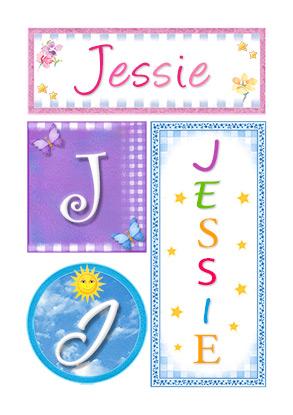 Jessie, nombre, imagen para imprimir