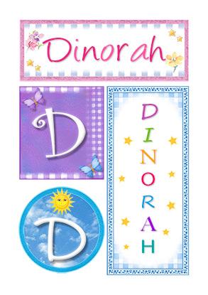 Dinorah, nombre, imagen para imprimir