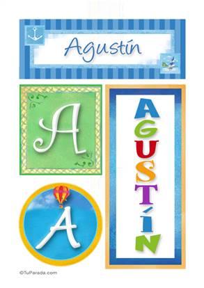 Agustín - Carteles e iniciales