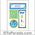 Will - Carteles e iniciales