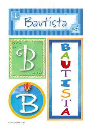 Bautista - Carteles e iniciales