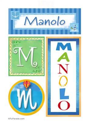Manolo - Carteles e iniciales
