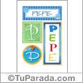 Pepe - Carteles e iniciales