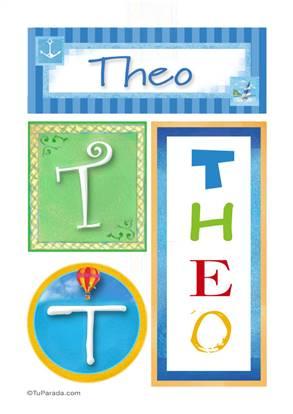 Theo - Carteles e inciales