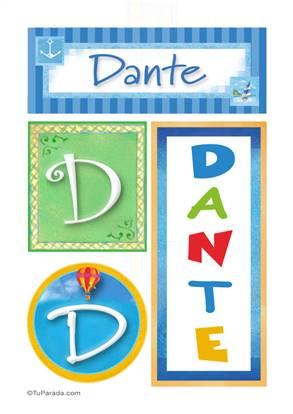 Dante - Carteles e iniciales