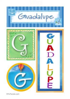 Guadalupe - Carteles e iniciales