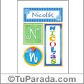 Nicolás - Carteles e iniciales