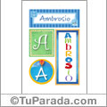 Ambrosio - Carteles e iniciales